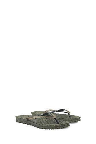 ILSE JACOBSEN HORNBÆK | Cheerful01 | Flip Flops with Glitter | Army, size 38 EU