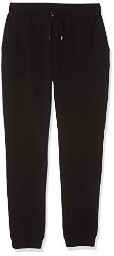 Amazon-Marke: find. Jogginghose Damen Jersey mit schmal zulaufendem Bein, Schwarz (Black), 42, Label: XL