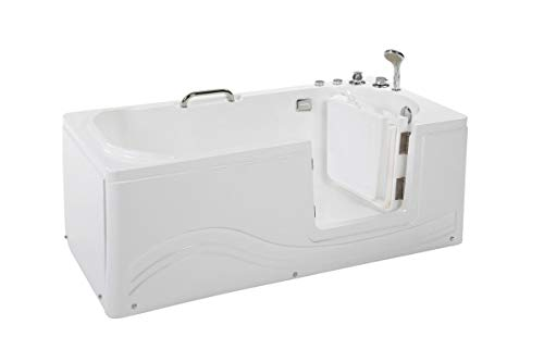 Supply24 Senioren Whirlpool Badewanne für Altenpflege mit Armaturen Seniorenbadewanne mit 6 Massage Düsen Tür Wanne Spa Indoor/innen für Pflege (Rechtseinstieg)