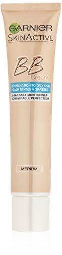 Garnier BB Cream Miracle Skin Perfector Matt-Effekt Mittel/Dunkel, Getönte Tagescreme mit Vitamin C, Sonnenschutz, 40 ml