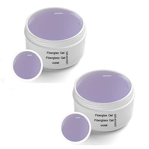 2x30 ml LED-UV Fiberglas Gel VIOLET klar - UV-LED Fiberglas 1-Phasengel VIOLET klar 2x30 ml