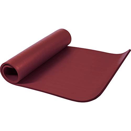 GORILLA SPORTS Yogamatte 190 x 100 x 1,5 cm für Fitness, Pilates, Gymnastik – Sportmatte in Ruby, rutschfest und phthalatfrei