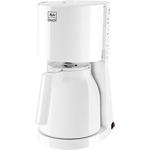 Melitta Enjoy Therm 1017-05, Filterkaffeemaschine mit Thermkanne, AromaSelector, Weiß