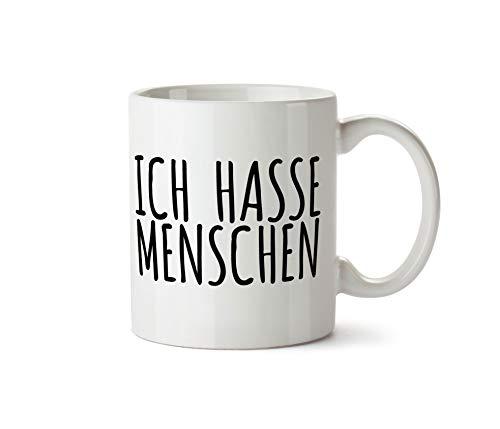 True Statements Tasse Ich Hasse Menschen - Kaffeetasse, Kaffeebecher, Mitarbeiter, fürs Büro, Arbeit und Co.