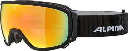 ALPINA Unisex– Erwachsene Scarabeo QMM Sph. Skibrille, matt schwarz, One Size