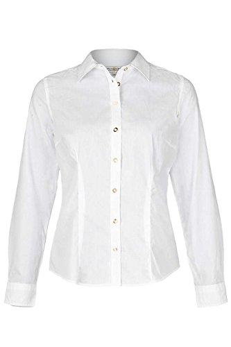 Almsach Damen Trachten-Bluse weiß 'Maria', WEIß, 48