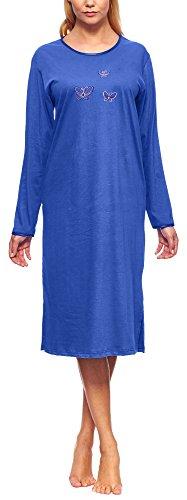 Merry Style Damen Langarm Nachthemd 91LW1 (Kornblume (Langarm), 42 (Herstellergröße: XL))