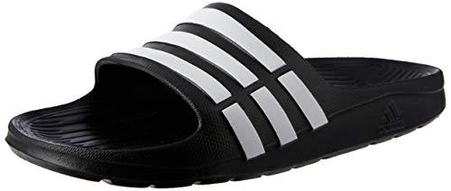 adidas Duramo Slide Herren Dusch & Badeschuhe, Schwarz (Black/White), 42 EU