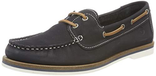 Tamaris Damen 1-1-23616-22 827 Sneaker, Blau (Navy Nubuc 827)), 37 EU