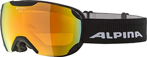 ALPINA Unisex– Erwachsene Pheos S QMM Skibrille, Black-matt, One Size