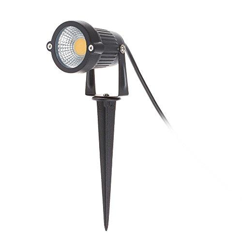 Winbang LED-Rasenlicht, 3W COB LED-Rasengarten-Flutlicht-Patio-Pfad-Scheinwerferlampe mit Spike wasserdichtes AC/DC 12V, warmes Weiß (1pc)