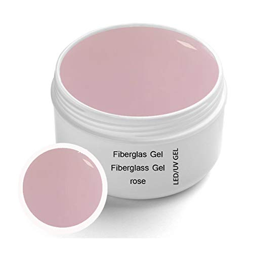 UV Fiberglas Gel Rose Klar 30 ml Premium Line – Finishgel Aufbaugel Haftgel - Top Coat - High Gloss Gel 1-Phasengel