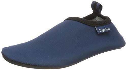 Playshoes Unisex-Kinder Badeslipper, Badeschuhe Uni Aqua Schuhe, Blau (Marine), 18/19 EU