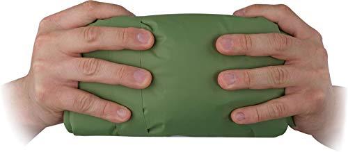 normani Ultrakleine MEGA Kopmpakte Camping-Luftmatratze wasserdichte Isomatte Biwakmatte Schlafmatte mit 520 g - SUPERLEICHT Farbe Oliv