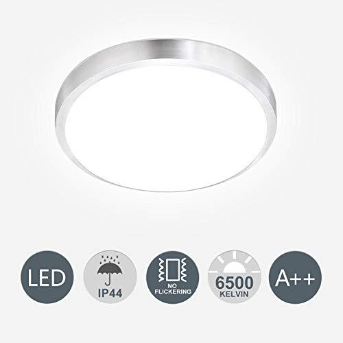 Hengda LED Deckenlampe inkl. 15W 1200lm LED Platine, IP44, Deckenleuchte für Badezimmer, 3200K neutralweiss, 265V, Ø 300mm