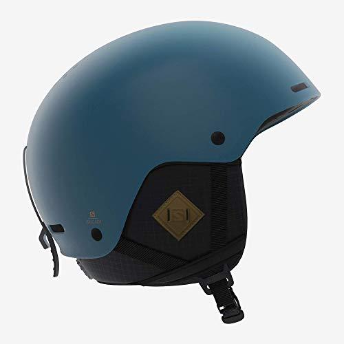 Salomon Herren Ski- und Snowboardhelm, ABS-Schale, SMART-Technologie, Größe M, Kopfumfang 56-59 cm, Brigade+, blau (Moroccan Blue), L40536900