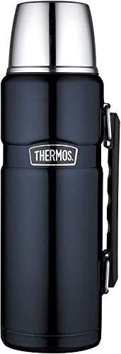 THERMOS 4003.256.120 Thermosflasche Stainless King, Edelstahl Midnight Blue 1,2 l, Drehverschluss, 24 Stunden heiß, 24 Stunden kalt, BPA-Free