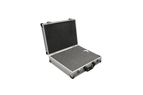 PeakTech 7255 – Universal Koffer für Messgeräte, Robuster Tragekoffer, Werkzeug Aufbewahrung, Würfelschaum Platten, Schaumstoff Polsterung, abschließbar, Staubschutz, M - 295 x 195 x 70 mm P 7255