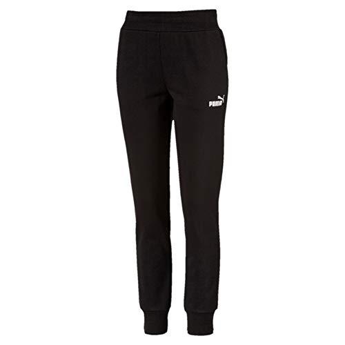 Puma Damen ESS Sweat Pants FL cl Hose, Schwarz (Cotton Black), 36 (Herstellergröße: S)