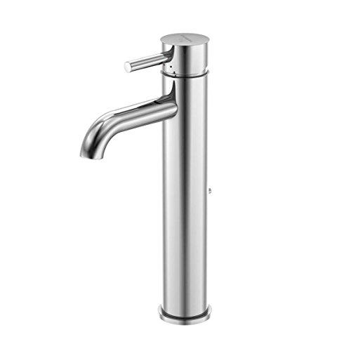 Steinberg 100 1705 Premium XL Waschbecken-Armatur aus massivem Messing für Küche und Bad, Waschtisch-Einhebelmischer mit Ablaufgarnitur, Chrom