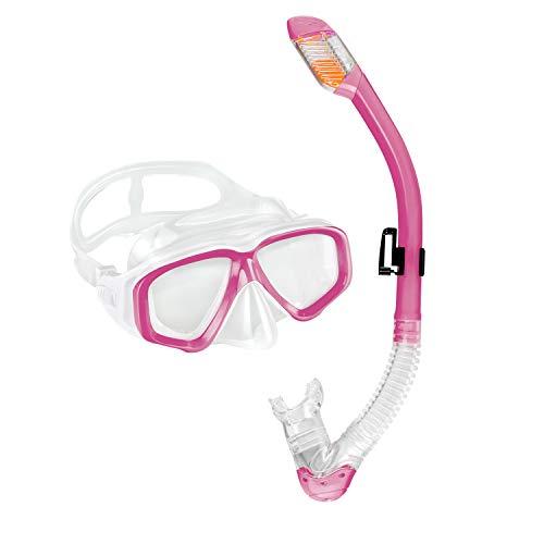 Sporzin Schnorchelset Kinder Taucherbrille mit Tauchmaske und Schnorchel 6/12 Jahre Anti-Beschlag Anti-Leck Tauchmaske (Rosa (12-16 Jahre))