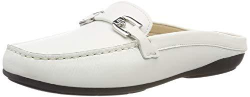 Geox Damen D ANNYTAH MOC B Slipper, Weiß (White C1000), 41 EU