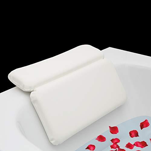 Laneta ZenHome Badewannenkissen - Premium Badekissen mit Spezialschaumfüllung- Optimales Spa Badewannenkopfkissen/Komfort Wannenkissen/Nackenkissen für die Badewanne