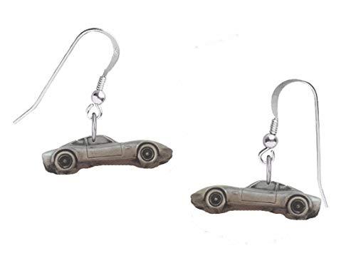 Klassischer Opel Gt ref171 Ohrringe mit Haken, Sterling-Silber 925, gestempelt