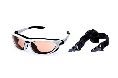 Alpland Skibrille SNOWBOARDBRILLE- SKI, Berg, GLETSCHERBRILLE - GLÄSER KONTRASTVERSTÄRKT-Allwetter Glas - !HELMKOMPATIBEL INKL.MICROFASERBAG!
