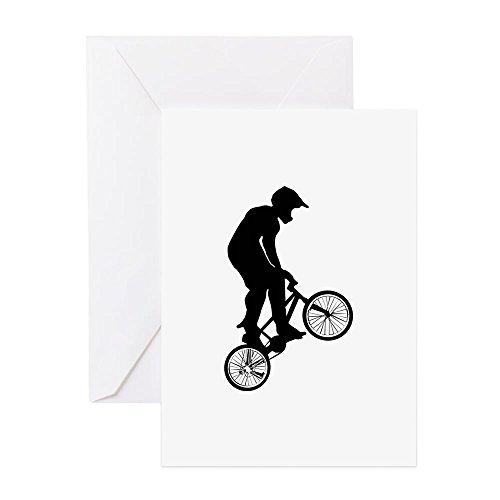 CafePress–BMX–Grußkarte, Note Karte, Geburtstagskarte, innen blanko, matt