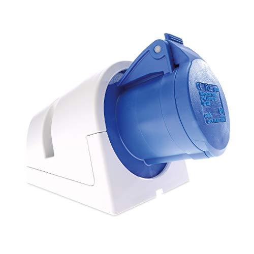 CEE Steckdose Aufputz - Versorgt Sie draußen optimal mit Strom - Caravan Steckdose ermöglicht die Nutzung aller elektrischen Geräte, eignet sich für Dauerstrom - Camping Steckdose IP44, blau