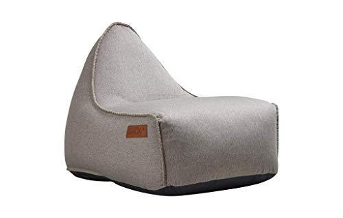 SACKit - RETROit Canvas Sand - Indoor Sitzsack mit Lehne und Füllung mit EPS Kugeln für eine optimalen Sitzkomfort - Großer Sitzsacke für Erwachsene - Dänisches Design
