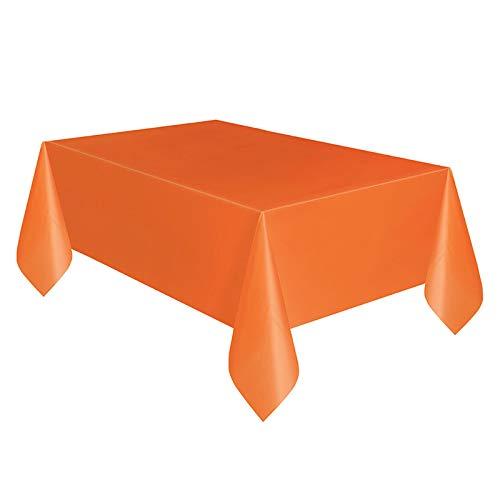 YHLVE Kunststoff-Tischdecke, groß, rechteckig, Kunststoff, Prinzessin, Kindergeburtstag, Party-Zubehör, Plastik, Orange, 137cmx274cm
