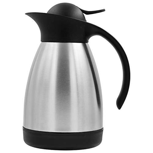 TRINKBASIS Isolierkanne 600 ml – Thermoskanne aus doppelwandigem Edelstahl für 3 Tassen Kaffee oder Tee