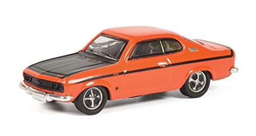 Schuco Opel Manta A GT/E, Modellauto, Maßstab 1:87, rot mit matt-schwarzer Motorhaube, 452651800