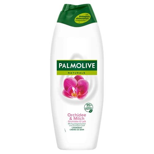 Palmolive Schaumbad Naturals Orchidee, 650 ml - Cremebad für ein spürbar weiches und frisches Hautgefühl