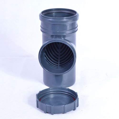 Powermat Regenrohrfilter Fallrohrfilter Laubfang Dachrinne DN 100 110 HT KG Rohr GRAU