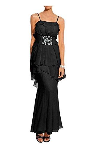 Carry Allen by Ella Singh Damen-Kleid Abendkleid mit Strass Schwarz Größe 19 (38)