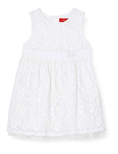 s.Oliver Junior Baby-Mädchen, festlich Kleid für besondere Anlässe, Weiß (Weiß 0100), 74