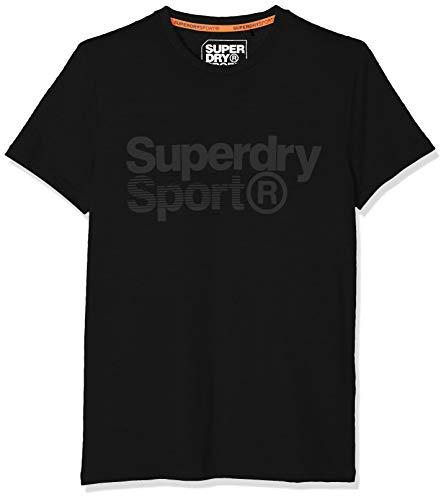 Superdry Herren CORE Sport Graphic Tee Sporttop, Schwarz (Black 02A), Small