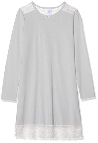 Sanetta Mädchen Nachthemd, Grau (Ice Grey 1566), (Herstellergröße: 140)