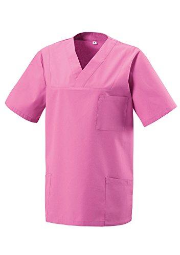 Schlupfkasack Kasack Schlupfjacke Schlupfhemd für Medizin und Pflege OP-Kleidung Pink Gr. XL