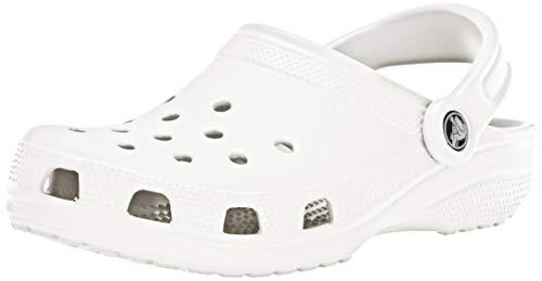 Crocs Unisex-Erwachsene Classic Clogs, Weiß (White), 41/42 EU