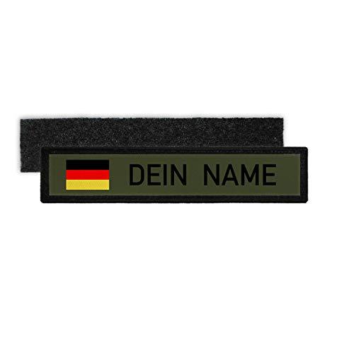 Copytec Namenspatch BW Deutschland personalisiert Fahne Uniform Olivgrün gestalten#27141