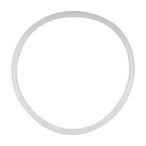 Fdit 5er Ersatz Klar Silikon Dichtung Dichtring für Haus Schnellkochtopf Küche Werkzeug(22CM)