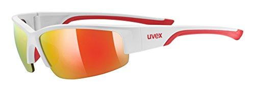 uvex Unisex– Erwachsene, sportstyle 215 Sportbrille, white mat red, one size
