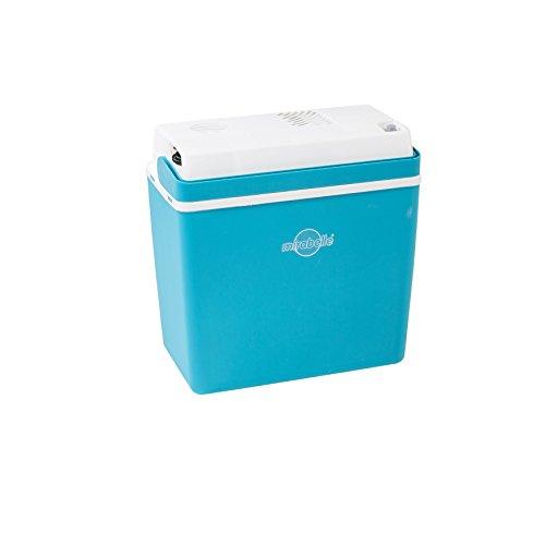 EZetil Mirabelle E24 Thermoelektrische Kühlbox ideal für Outdoor Aktivitäten im Garten, Grillen Picknick 12V, Blau/Weiß