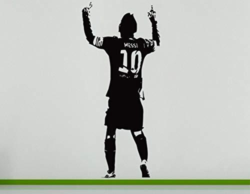 Lionel Messi Argentinien Argentinien Fußball Spieler Fußball Striker Wandkunst Aufkleber Bild - Schwarz, 56 cms wide x 131 cms high