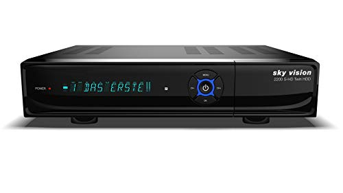 sky vision 2200 HD Digitaler Satelliten Receiver mit 1TB Festplatte (HDD, HDTV, DVB-S2, HDMI, USB 2.0, Full HD 1080p)
