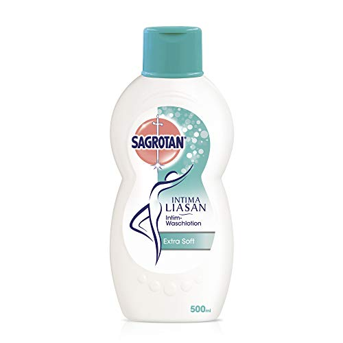 Sagrotan Intima Liasan Intim-Waschlotion Extra Soft – Sanfte Intim-Pflege mit Mandelmilch – Ohne Alkohol, Seife und Farbstoffe – 2 x 500 ml